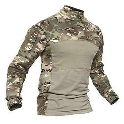 MAGCOMSEN Army Tactical T-shirts Men Summer Camouflage Airso
