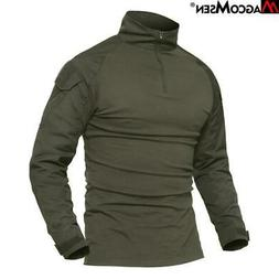 MAGCOMSEN Combat Shirt Men Long Sleeve Military Style Tactic