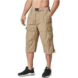 MAGCOMSEN Men Tactical Capri Pants Military Cotton 3/4 Below