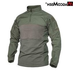 MAGCOMSEN Military Tactical T-shirts Men Cotton Elastic Airs