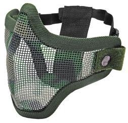 Tactical Crusader Mask - Steel Half Mask 2G-Jungle Camo