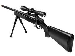 utg master sniper airsoft kit, black airsoft gun