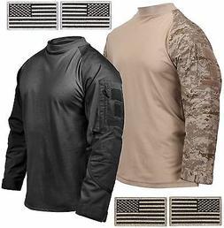 Rothco Mens Cotton Blend Tactical Airsoft Combat Shirt & 2 F