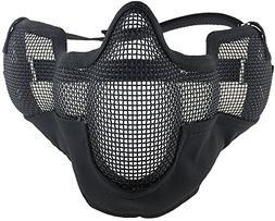 SportPro Mesh Lower Face & Ear Protection Half Face Mask for