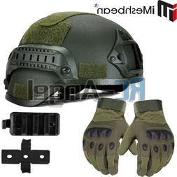MICH 2000 Airsoft Tactical Hunting Combat Helmet w/ Full Fin