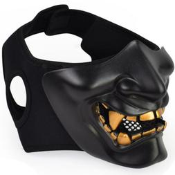 For Monster Kabuki Samurai Half Face Airsoft Evil Masks  Tac