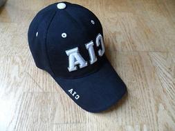 New Mens Baseball Cap Hat Embroidered CIA Logo Black Raptors