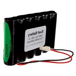 Exell NiMH 7.2V 2000mAh Ademco Lynx Alarm Systems Replacemen