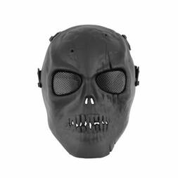 Outdoor Airsoft Paintball Tactical Full Face Protection Skul