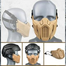 Outdoor Tactical Hunting Airsoft Breathable Half Face Mask C
