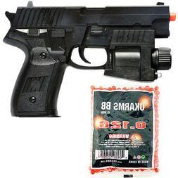 P226 SPRING AIRSOFT HAND GUN PISTOL LED LIGHT LASER SIGHT AI