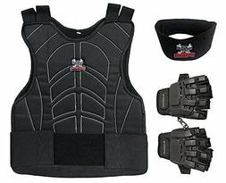 Maddog Padded Paintball Chest Protector Combo Package - Blac