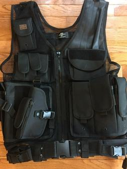 Taigear Paintball/hunting/Airsoft black deluxe Tactical Vest