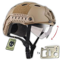 ATAIRSOFT PJ Type Tactical Multifunctional Fast Helmet with