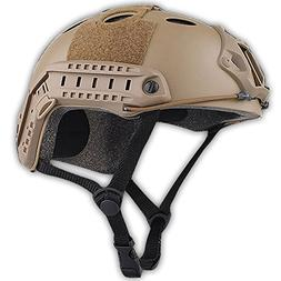 ATAIRSOFT PJ Type Tactical Paintball Airsoft Fast Helmet DE