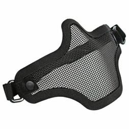 Protective Half Face Mask Hunting Shoot Airsoft Tactical Ste