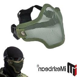 Protective Tactical Airsoft Mask Striker Steel Metal Mesh Ha