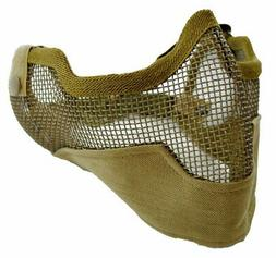 Tactical Crusader Tan 3G Airsoft Steel Mesh Lower Face Mask