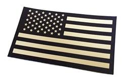 Reversed Black and Tan INFRARED REFLECTIVE USA Flag Military
