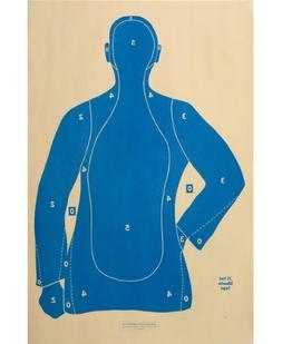 """Shooting Targets Law Enforcement Police Silhouette 23""""x35"""""""