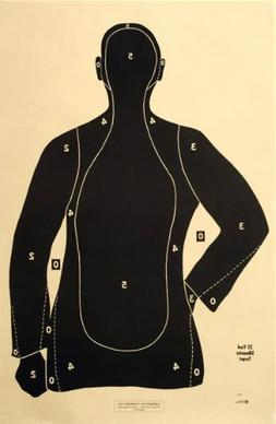 "Shooting Targets Law Enforcement Police Silhouette 23""x35"""