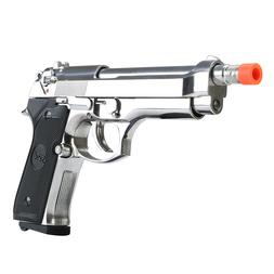 SRC SR92 GBB Airsoft Pistol - Metal - Silver - CO2/Gas Optio