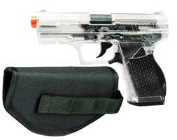 Crosman Stinger P9T Clear and Black AirSoft Pistol with Hols