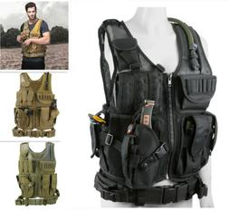 Tactical 600D Molle Plate Carrier JPC Vest Military Airsoft