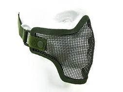 MetalTac® Tactical Airsoft Metal Mesh Half Mask with Single