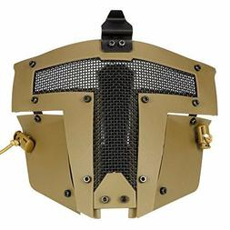 Tactical Airsoft SPT Steel Mesh Full Face Mask CS Protection