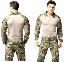 Tactical Clothing BDU Airsoft Combat Hunting Uniform MultiCa