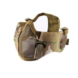 OneTigris Tactical Airsoft Foldable Half Face Metal Mesh Mas