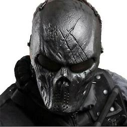 Tactical Mask Skull Full Face With Metal Mesh Eye Protection