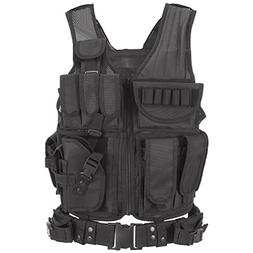 Tactical Military Vest Molle Carrier Plate Airsoft Paintball