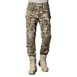 SINAIRSOFT Tactical Pants Shirt with Knee Pads Army Airsoft
