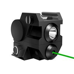 Tactical Pistol Green laser with LED flashlight ,2-in-1, Min