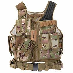 Lixada Tactical Vest Military Airsoft Vest Adjustable Breath