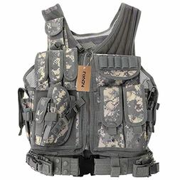 Lixada Tactical Vest Adjustable Breathable Outdoor Airsoft V