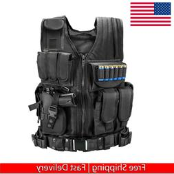 Tactical Vest Adjustable Military Army Molle Combat Airsoft