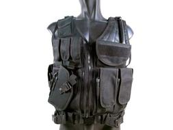 MetalTac Tactical Vest Cross Draw with 9 Pockets and Pistol