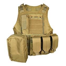 SMARTSTANDARD Tactical Vest Law Enforcement Molle Airsoft Mo