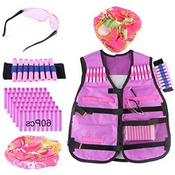 Tactical Vest, Yamix Kids Elite Tactical Vest Kit for nerf r