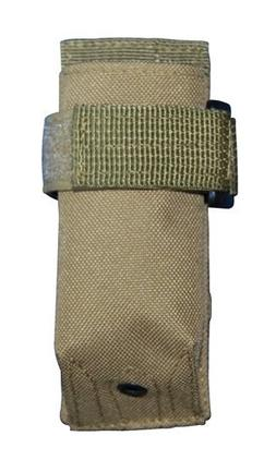 Tan MOLLE Flashlight Pouch Hunting Airsoft, law enforcement