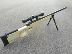 WELL Tan Color Tactical L96 AWP Airsoft Sniper Rifle W/ Scop