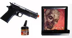 Zombie Hunter Target Pack with Airsoft Pistol and Accessorie