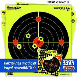 "BEEWARE Targets  12"" Circle Fluorescent Reactive Splatter"