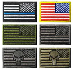 Bundle 6 Pieces Full Color USA American Thin Blue Line Polic
