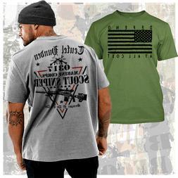 USMC Scout Sniper T-Shirt MOS 0317 Marine Combat Veteran War