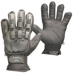 Valken Full Finger Plastic Back Airsoft Gloves, Black, Large