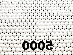 5000 Count .20g White Competition Grade Plastic Seamless 6mm